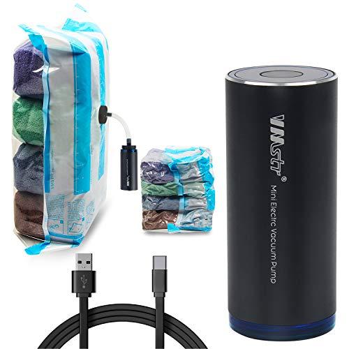 VMstr Sacchetti sottovuoto per vestiti con pompa USB, 4 sacchetti per riporre vestiti, piccoli sacchetti sottovuoto, salvaspazio, per viaggi, valigie, dimensioni ridotte