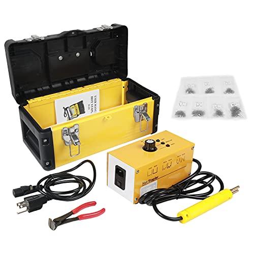 PLAYOCCAR Auto Kit di Saldatore Plastica Paraurti, 220V Saldatore Plastica Graffette Strumenti di Pistola con 700PCS Staples