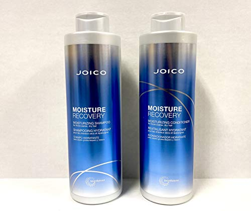 Joico Moisture Recovery Shampoo & Conditioner Liter Duo Set (33.8 oz) w/ free pumps by Joico