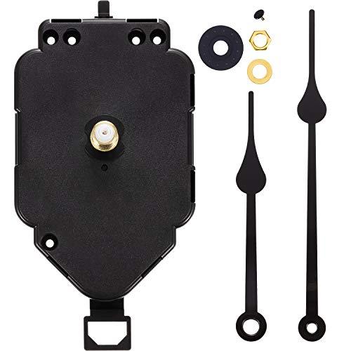Hicarer Pendulum Clock Movement Replacement Long Shaft Pendulum Quartz Clock Movement Mechanism