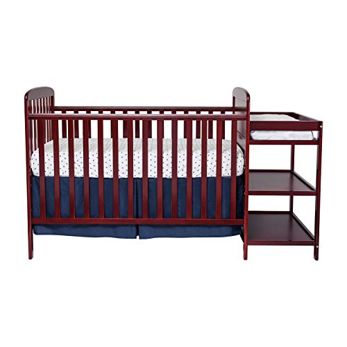Suite Bebe Ramsey 3-in-1 Convertible Baby Crib and Changer in a Cherry Finish