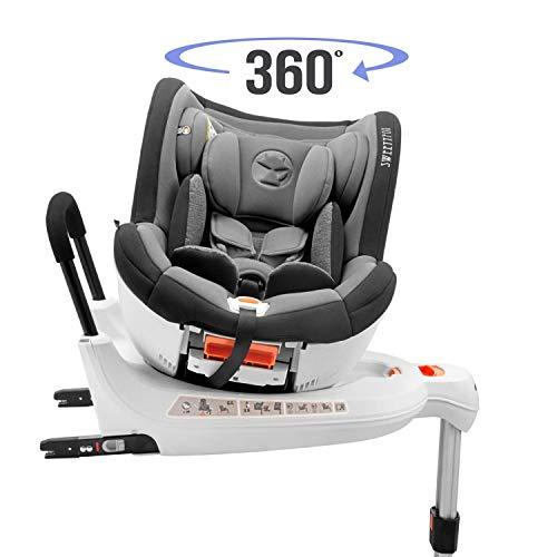 Siege Auto Pivotant 0-18kg, 360°, Isofix, Groupe 0+/1, Norme ECE R44/4 (Sécurité Maximale pour Votre Enfant) - Siege Auto 0+ 1, Inclinable, Rotatif avec Réhausseur - Sieges Autos Bebe et Enfant