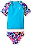 Speedo Girl's Uv Swim Shirt Short Sleeve Rashguard Set - Manufacturer Discontinued