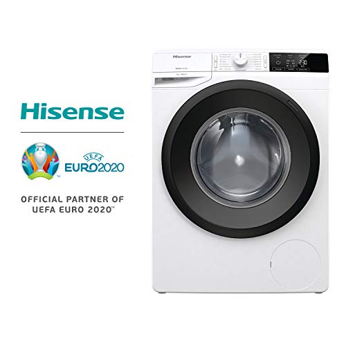 Hisense WFGE7012/S Lavatrice freestanding a carica frontale Slim, Capacit 7 Kg, Classe energetica...