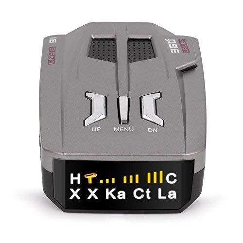 Zeerkeer Rilevatore Radar Rilevatori Radar per Auto V9 Radar Detector per Rilevamento a 360 Gradi Sistema di Allarme Vocale LED Display
