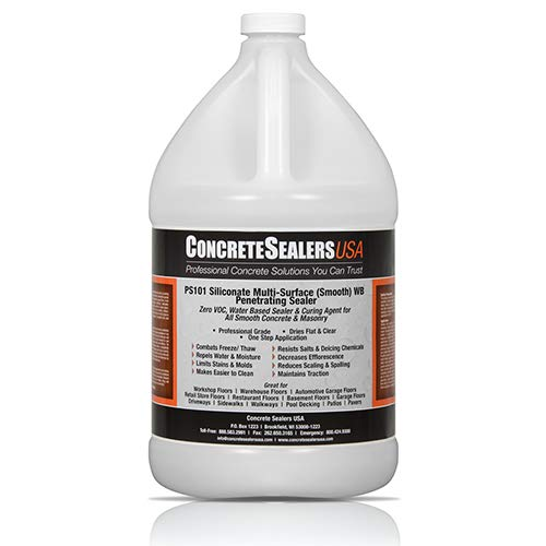 PS101 Siliconate Multi-Surface (Smooth) WB Penetrating Sealer (1 Gallon)