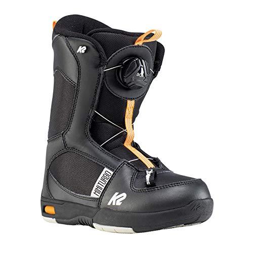 K2 Mini Turbo, Scarpe da Snowboard. Bambino, Black-Orange, 33.5 EU