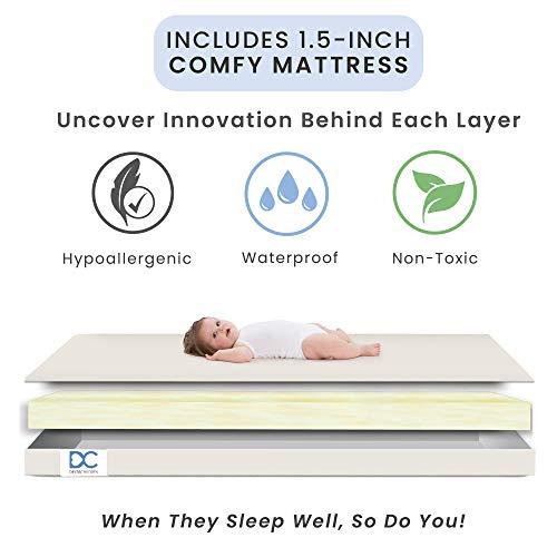 Product Image 5: Delta Children Emery Mini Convertible Baby Crib with 2.75-inch Mattress, Grey