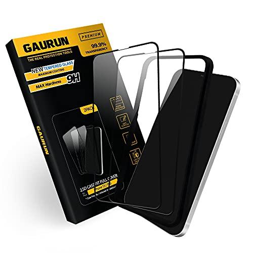 GAURUN iPhone13 / iPhone13 Pro 対応 ガラスフィルム 2.5D Casefit ガイドツール付き フルカバー 強化ガラ...