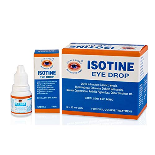 Isotine Eye Drop 100% Ayurvedic with no side effects pack of 6 Vials