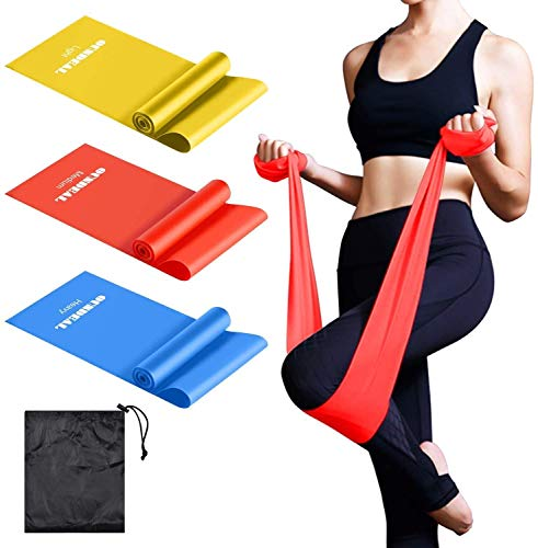 OUNDEAL Set di 3 Elastici Fitness, Fasce Elastiche Fitness, Bande Elastiche Fitness, Bande Elastiche...