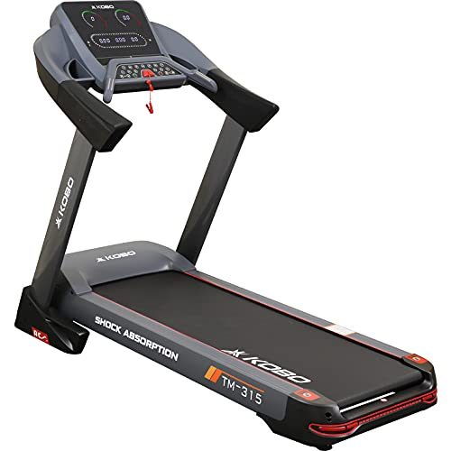 Kobo Fitness A.C Motor 3 H.P TM-315 Semi Commercial Auto Incline Treadmill and Free Installation...