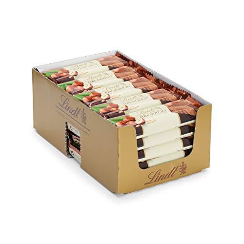 Lindt & Sprüngli Riegel aus feinstem Edel-Nougat im Thekendisplaykarton, Ideal für unterwegs oder als Geschenk, 25er Pack (25 x 50 g)