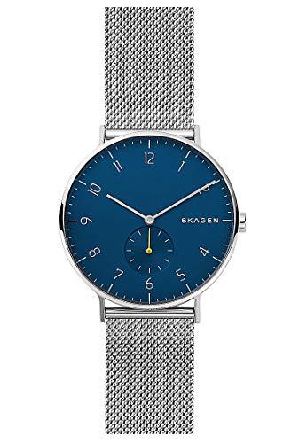 Skagen Herren Analog Quarz Uhr mit Edelstahl Armband SKW6468