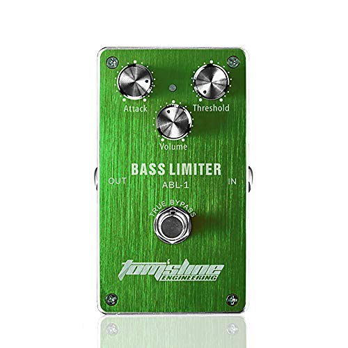 ABMBERTK True Bypass Bass Limiter,Bass Electric Effect Pedal, Built-in Ultra Quiet Sound Process System, Low Power Consumption,green