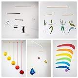 Set of 5 Montessori inspired mobiles - Black and white mobile, Orange Gobbi, Dancers, Octahedron,...