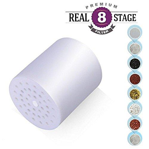 8-stage cartucho de filtro de recambio para filtro de ducha Universal de alta salida Let tu pelo y piel más saludable