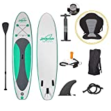 Jiubenju Inflatable Stand Up Paddle Board 10'6'x30'x6' SUP Accessories & Backpack, Non-Slip Paddle Board, Leash, Paddle, Waterproof Backpack, Kayak Seat, Hand Pump, Repair kit for Youth & Adult