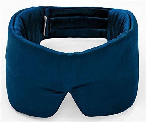 Sleepmaster Schlafmaske, die berühmte Luxus Schlafmaske für Herren und Frauen mit Geräuschdämpfung, aus Satin und Baumwolle, waschbar, inkl. Ohrstöpsel, blau