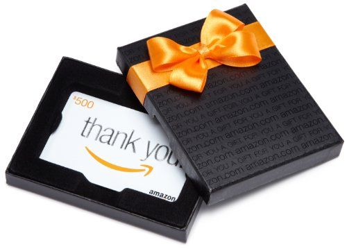 Amazon.com $500 Gift Card in a Black Gift Box (Classic Thank...
