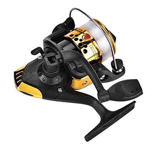Keenso Mulinello da Pesca 3 Colori Mulinello da Spinning Placcatura in plastica Mulinello da Spinning Leggero Attrezzatura da Pesca 11,5 x 7,5 x 10 cm(Giallo)