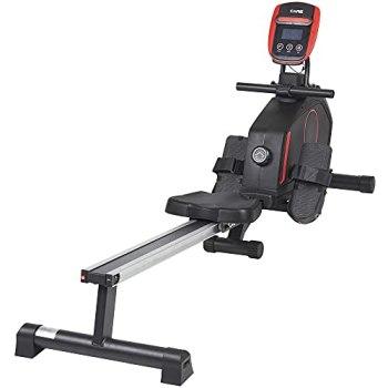 Care Fitness - Rameur d'Appartement Mag-Clipper RS - Résistance magnétique - 8 Niveaux de Résistance - Tirage Central - Masse d'Inertie 8kg - Rameur Pliable