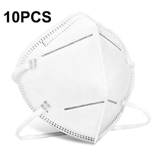 Mascarillas Protectora 10 Piezas, PM2.5 Máscaras de Seguridad, 4 Capas de Protección 95% Efecto de Filtrado contra el Polvo y las Gotas en el Aire