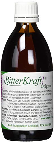 BITTERKRAFT Original in 5 Größen - BIO - Bitterstoffe Tropfen nach Hildegard von Bingen - Ausgewogene Kräuter vor dem Essen - 200ml Bittertropfen Kräuterbitter
