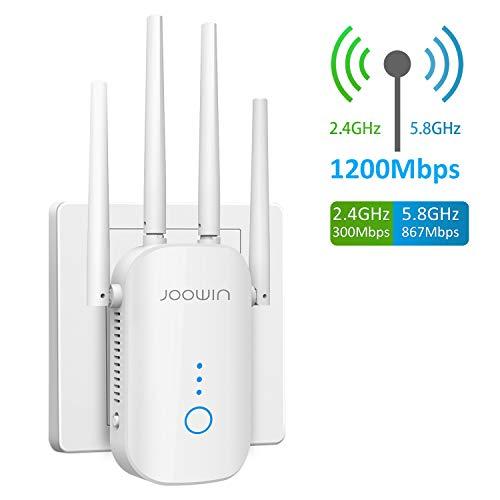 JOOWIN WiFi Repetidor 1200Mbps 2.4 GHz y 5GHz Amplificador de Señal...