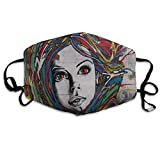 Where To Find Street Art In Paris Vintage Dust Mouth Mask Reusable Anti-Dust Face Mask Adjustable Earloop Skin Protection