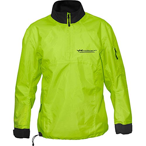 WindRider Waterproof Paddling Sailing Spray Top   Neck and Wrist Seals   Front Zipper   Shoulder Pocket