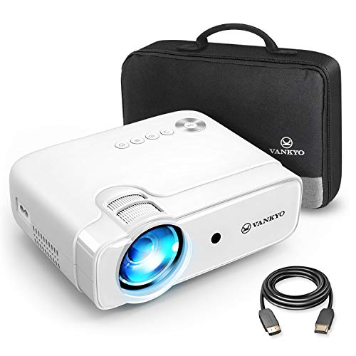 VANKYO Leisure 430 Mini Beamer, 4500 Lux Heimkino Beamer, Support 1080P Full HD mit 60000 Stunden LED, kompatibel mit TV Stick, HDMI, SD, AV, VGA, USB, PS4, X-Box, iOS/Android Smartphone Projektor