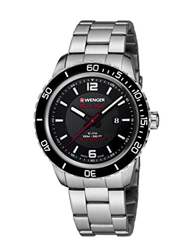 Wenger Unisex Analog Quarz Uhr mit Edelstahl Armband 01.0851.122