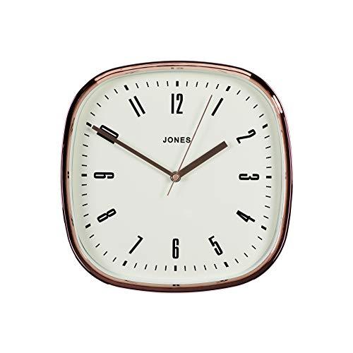 Jones Clocks Marvel, Orologio da Parete Quadrato retr in Nero, Rosso o Grigio per la Cucina...