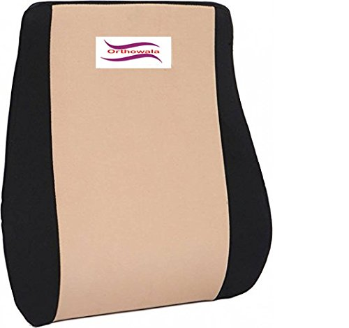 Orthowala® Executive Lumbar Support for Chair - Gold Series- ideal for Chair sofa & car chair back...
