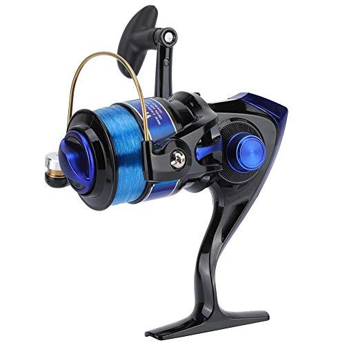 Mulinello da pesca, testa in plastica placcata per spinning, 12BB, per pesca in acqua dolce e salata, serie YF (4000-nero)