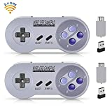 Wireless Controller for SNES Classic Edition/NES Classic Edition, Gamepad with USB Wireless Receiver Can Play with Windows,iOS,Liunx,Android Device (2 Packs) by ipremium (Renewed)