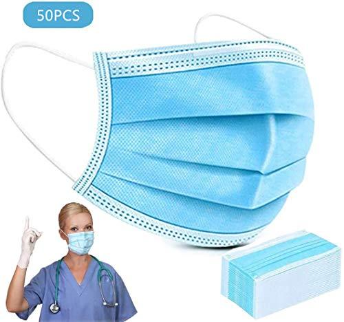 100 Mask Pz USA e Getta, a 3 Strati Mаsks, la Protezione Mascherina Medica, può Essere utilizzato in ospedali, Negozi Animale Domestico e Dove Richiede la Protezione delle Vie respiratorie