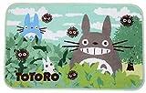 Super Soft Memory Foam Bath Mat Non Slip Absorbent Super Cozy Velvet Bathroom Rug Carpet Cute Totoro Design Door Mat Kitchen Mat (19.68x31.49 Inch)
