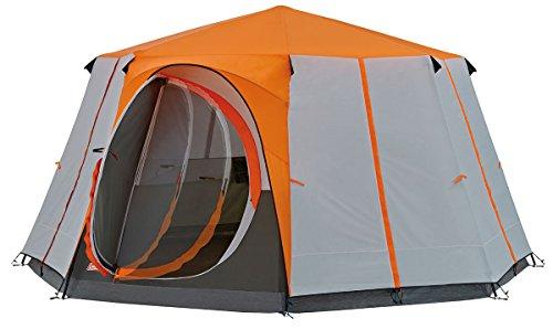 Coleman Tente Octagon, Tente Festival 6 à 8 Places, Grande Tente Dôme Avec Pleine Hauteur de Tête, 100% Imperméable, Tente de Camping Familiale Avec Tapis de Sol Cousu