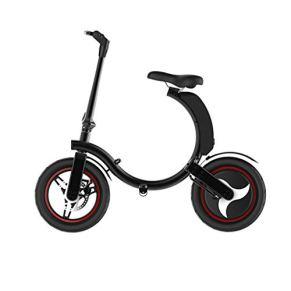 TB-Scooter E-Bike Negro Aluminio Inflable Neumático de 14 Pulgadas, Bicicletas eléctricas, 450W 36V/7.8AH, Pantalla LCD…