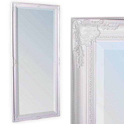LEBENSwohnART Wandspiegel LEANDOS 160x60cm pur weiß barock Design Spiegel pompös Facette