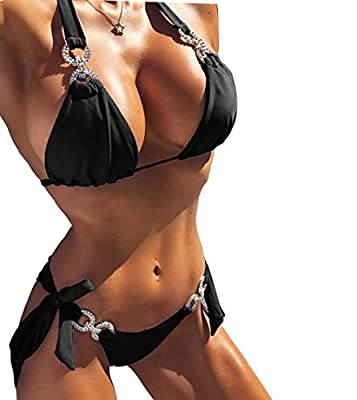 Fabric: Spandex,Cotton,Polyester High Quality and Strict Inspection: The sexy bikini is made of high quality rhinestone and alloy. And we're professional fashion . Each bikini is inspected carefully by us. Sexy chain necklace is compatible with T-shi...