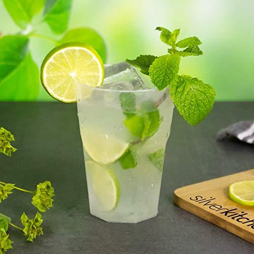 Silverkitchen - 30 bicchieri da cocktail in polipropilene, trasparenti, 0,3 l, in plastica Bicchieri riutilizzabili infrangibili.