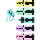 edding 7 Mini Textmarker - Pastell-Farben - 5 highlighter pens - Keilspitze 1-3 mm - Textmarker klein in trendigen Farben - für Bullet Journal, Schule, Uni oder Büro