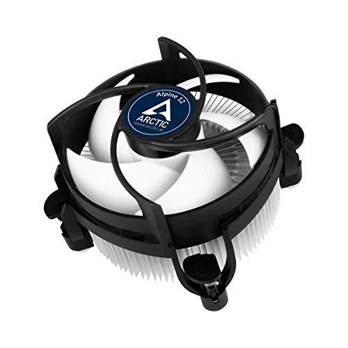 ARCTIC Alpine 12 - Refroidisseur de processeur pour socle Intel, capacité de refroidissement jusqu'à 95 W grâce à un ventilateur PWM de 92 mm, composé thermique MX-2 préappliqué, installation facile