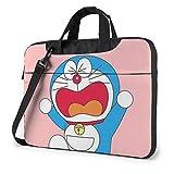 XCNGG Maletín para Ordenador portátil Angry Doraemon, maletín de Negocios para Hombres y Mujeres, Bandolera de Hombro, Estuche para computadora portátil, Bolsa de Transporte, 13 Pulgadas