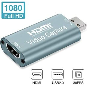 GOODAN-Audio-Video-Capture-Cards-HDMI-to-USB-1080p-USB20-Record-via-DSLR-Camcorder-Action-Cam-for-High-Definition-Acquisition-Live-Broadcasting-Gray