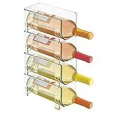 mDesign range-bouteilles en plastique – support pour bouteilles empilable...