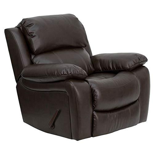 Flash Furniture Brown LeatherSoft Rocker Recliner